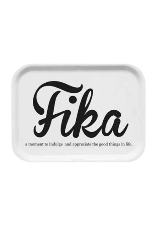 Tray Fika - curly white