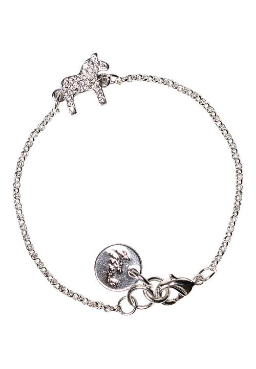 Armband Dalapaard Anna Viktoria Kristal Zilver Brilliant