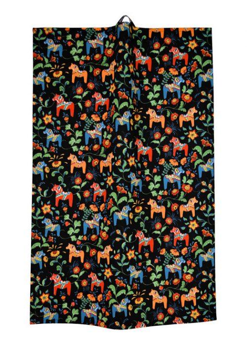 Theedoek Dalapaard Mini Zwart Arvidssons Textil
