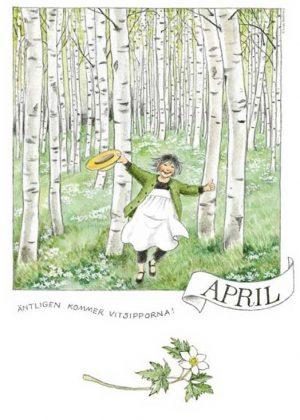 Maandposter Linnea Lena Anderson - april