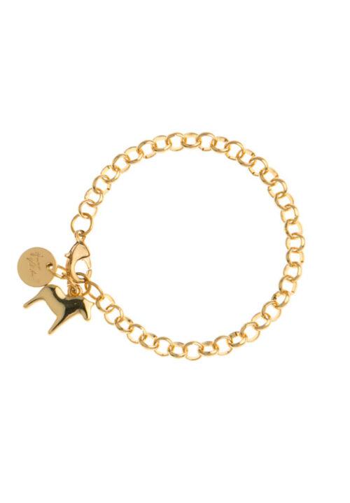 Dala paard armband Anna Viktoria goud