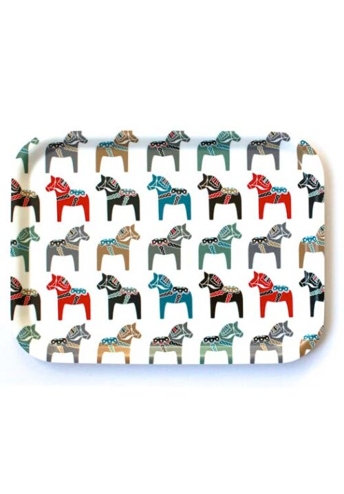 Dala paard dienblad multi