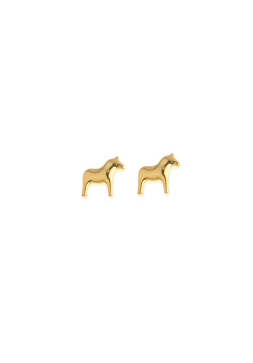 Dala paard oorbellen Anna Viktoria goud