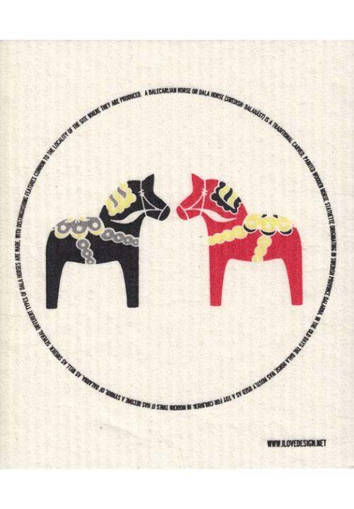 Dala paard vaatdoek two horses