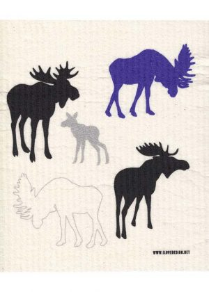 Moose Dishcloth Blue