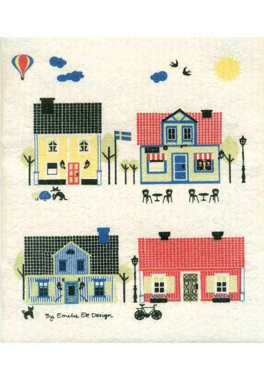 Houses of Sweden Dischcloth Summer