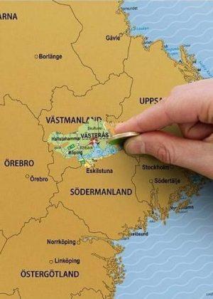 Kraskaart Zweden-