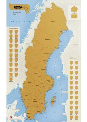 Kraskaart Zweden