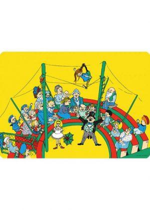 Pippi Langkous cirkus placemat