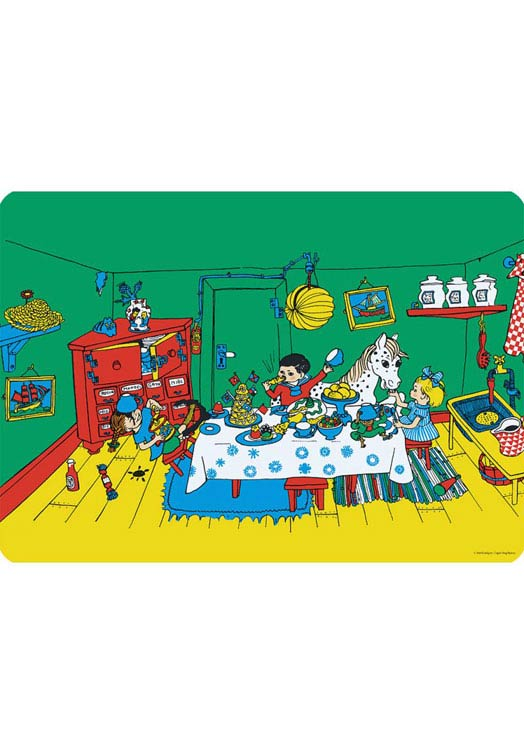 Pippi Langkous feest placemat