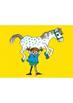 Pippi Langkous met paard poster