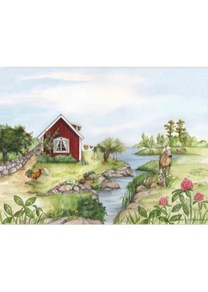 Placemat Summer Cottage