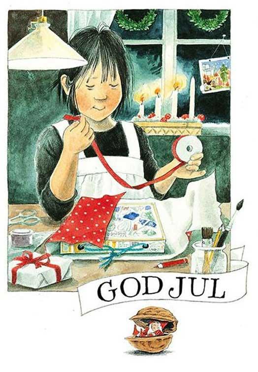 Zweedse kerstkaartjes God Jul
