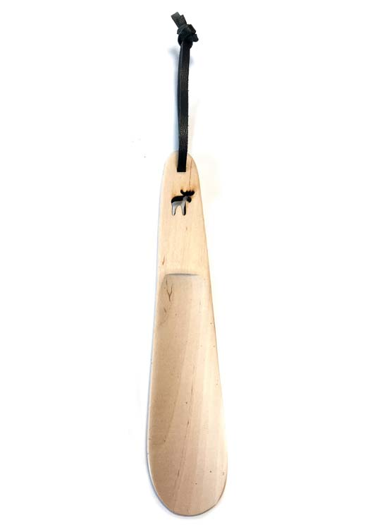 Wooden shoehorn moose